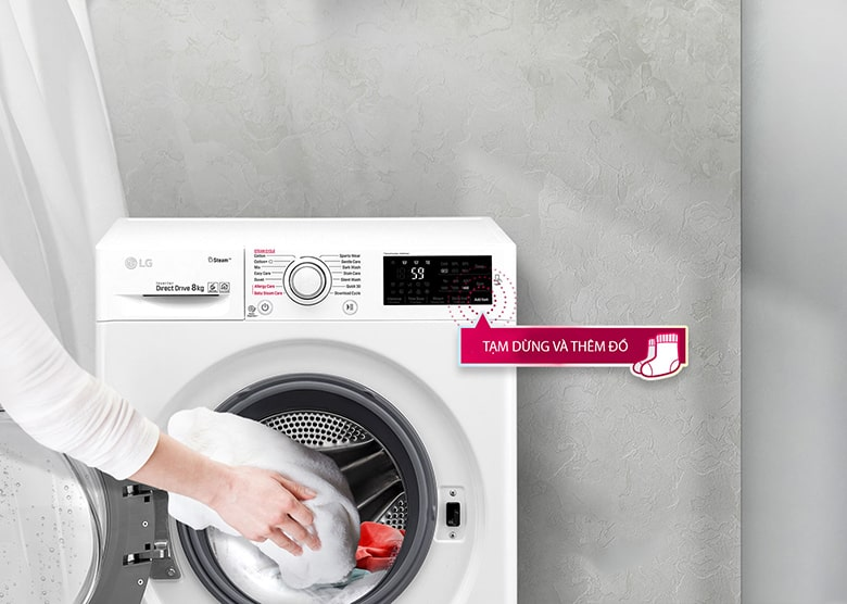 Thêm đồ trong khi giặt