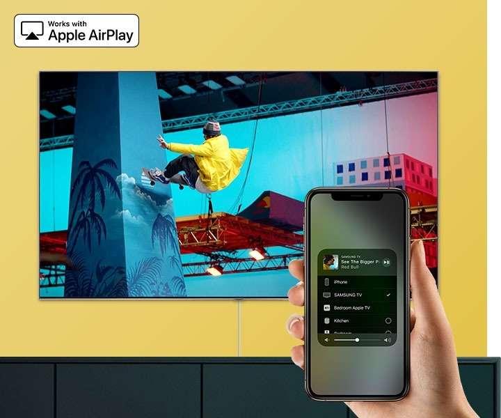 tivi samsung ua65tu8000 - ứng dụng Airplay 2